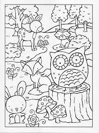 Kleurplaat Bosdieren Herfst School Kleurplaten Dieren