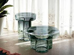 round blown glass coffee table soda by
