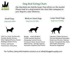 Pet Bed Size Chart Dog Bed Size Chart Pictures To Pin On Pinterest Pinsdaddy