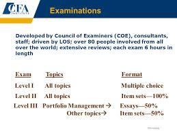 CFA Level I Overview  R  G  Quintero   Co