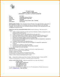 8 Outreach Worker Cover Letter Address Example