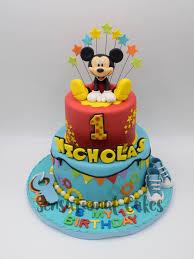 Mickey Mouse Theme Boy Birthday 3d Cake Singapore Mickeymousecake