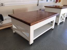 rustic lift top coffee table with