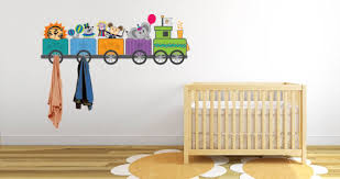 Nursery Coat Rack Circus Train Decal Coat Racks Dezign With A Z 9
