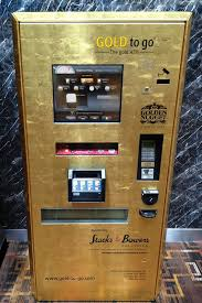 Gold Vending Machine Prices Extraordinary Buy A Gold Bar From A Gold ATM Machine Even If Its Only A Gram