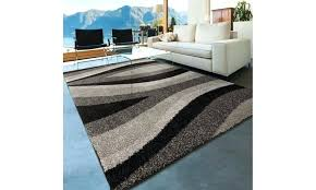 trailed swirls area rug swirl rugs blue cm black gray