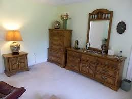vintage looking bedroom furniture. Image Is Loading 6-piece-American-Drew-solid-oak-wood-bedroom- Vintage Looking Bedroom Furniture