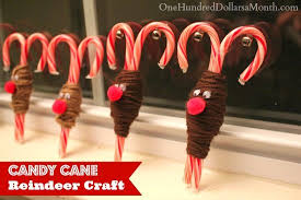 Christmas Decorations With Candy Canes Easy Christmas Crafts Candy Cane Reindeer One Hundred Dollars 25