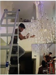 homeandartlosangeles com chandelier installation los angeles
