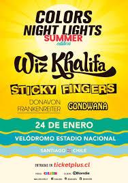 Color Night Lights Chile 2019 Wiz Khalifa Protagoniza Festival De Verano Agendamusical