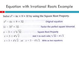 4 equation with irrational roots example 4