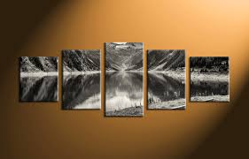 5 piece mountain black and white large canvas on 3 piece framed wall art for sale with 5 piece mountain black and white large canvas multi piece wall art
