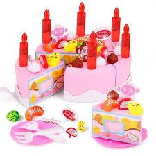43pcs kids plastic birthday cake toy pretend play kitchen set