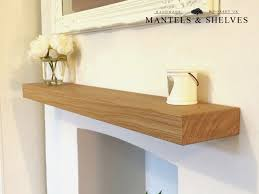 solid oak floating shelf mantle beam fireplace mantel shelves wood free fixings