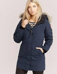 Canada Goose Victoria Parka Jacket Blue For Women S8o9158