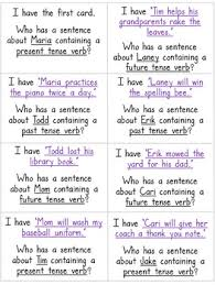 tenses verb tenses i have who has game past present future by deb hanson