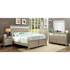 Silver Furniture Bedroom Furniture Of America Briella Bedroom Set In Silver Local