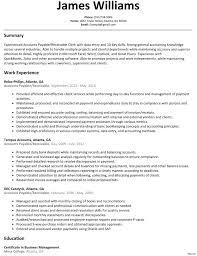 Sample Resume Accounts Payable Sample Resume Accounts Payable Receivable Clerk Best Accounts 2