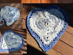 crochet heart shaped rag rug part 1