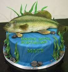 Bc4118 Bass Fish Birthday Cake Toronto In 2019 Cake And Cupcake