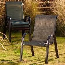 sling stacking chair blue
