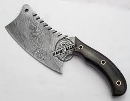 New Damascus Chefu0027s Cleaver Knife Custom Handmade Damascus SteelDamascus Steel Kitchen Knives