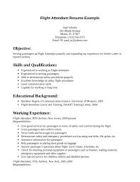 sample resume flight attendant