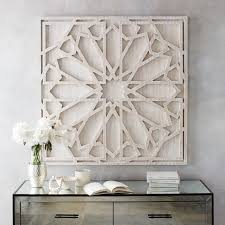 Graphic Wood Wall Art   Whitewashed (Square)