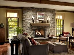 traditional fireplace wall designs with brick stone