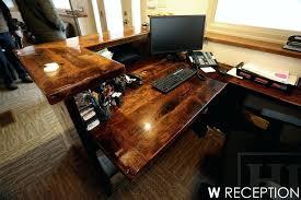 custom wood office furniture. Custom Wood Desk Reclaimed Desks Threshing Floor Furniture Plaques . Office