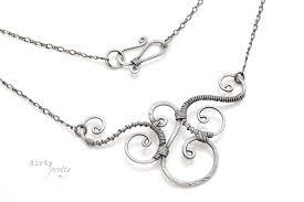 11th wedding anniversary gifts steel wedding anniversary gifts trio necklace by dirtypretty artwear