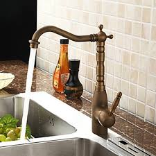 Antique Brass Centerset Kitchen Faucet FaucetSuperDeal