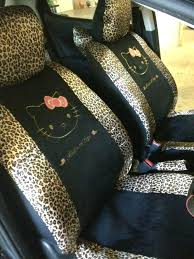car seats leopard print car seats best seat covers images on love hello kitty ill