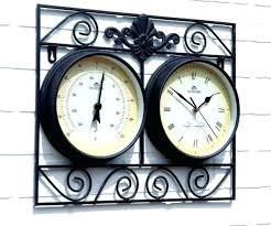 outdoor clock and temperature gauge extra large outdoor thermometer outdoor clock and thermometer outdoor clock thermometer