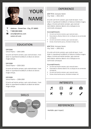 Free Resume Templates For Microsoft Word Adorable Fitzroy Modern Border Resume Template