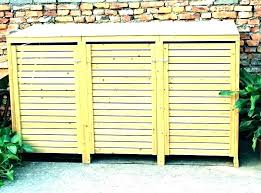 refuse storage shed plans outdoor wooden trash can