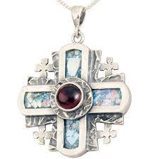 cross pendant sterling silver zoom