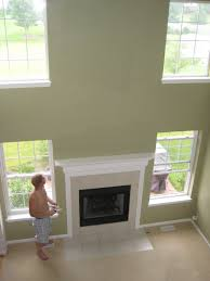 Paint For Living Room With High Ceilings Living Room Grey Wall Paint Also White Window Frame With Muntins