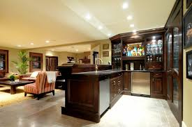 basement ideas for family. Home Designs:Living Room And Bar Design Family Mini Basement Ideas For Small G