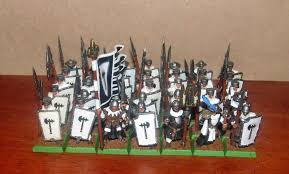 i have a healthy block for my bretonnian knights to precede into battle thirty five in number and b with halberds in 8th edition they are by no