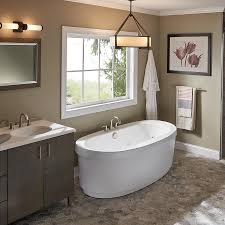 top jacuzzi bathtub inizio 65 5 in white acrylic freestanding whirlpool tub