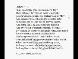 analysis sonnet poem notes william shakespeare british  analysis sonnet 18 poem notes william shakespeare british english pronunciation