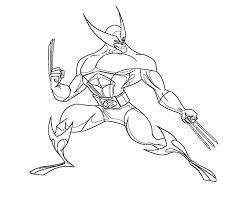 Small Picture Coloring Pages Wolverine Coloring Home