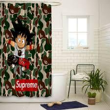 details about goku bape camo high quality bathroom shower curtain 60x72 inch