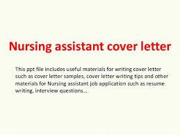 Nursing Assistant Cover Letter Sample Cover Letter For Nursing