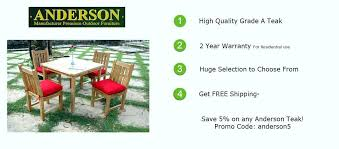 anderson teak outdoor furniture or upscale patio decor with free garden folding chairs