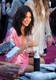kendall jenner has her hair makeup done prior to the 2016 victoria s secret fashion show