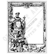 frontispiece frame from old 1893 heraldry book