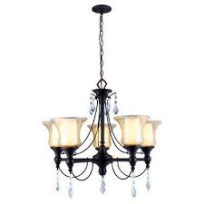 ethelyn collection 5 light oil rubbed bronze chandelier with elegant old world glass shades