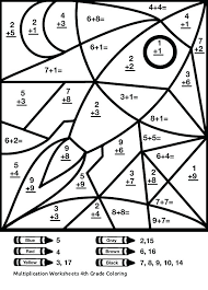 Multiplication Coloring Sheets 5th Grade Free Printable Math Free